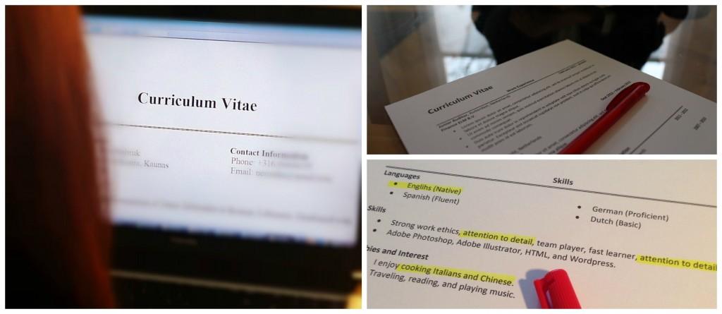 CV check collage