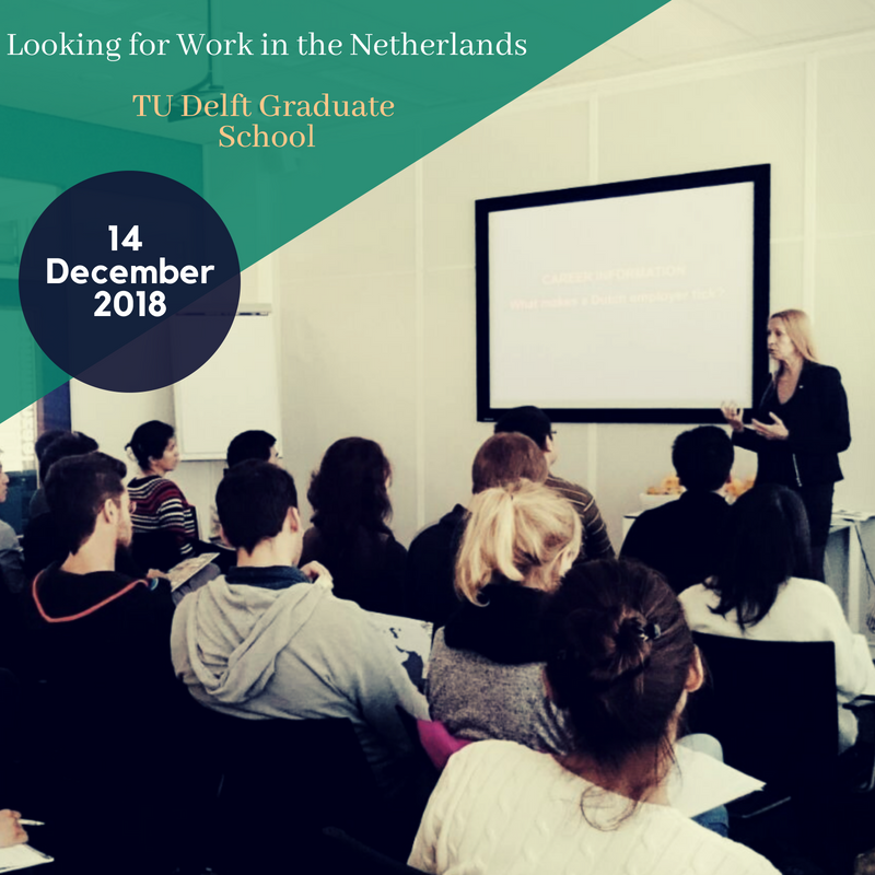 PhD Workshop: Looking for work in the Netherlands | TU Delft - ELM